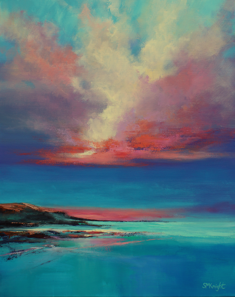 (CreativeWork) Cloud Dance by Sandra Michele Knight. Acrylic Paint. Shop online at Bluethumb.