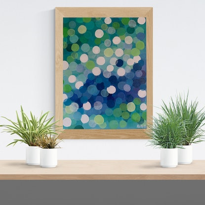 (CreativeWork) I'm Dotty #1 by Kate Boundy. Acrylic Paint. Shop online at Bluethumb.