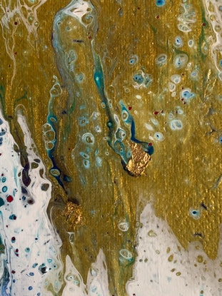 (CreativeWork) There's Gold in that there River by Kate Boundy. Acrylic Paint. Shop online at Bluethumb.