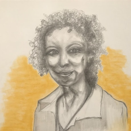 (CreativeWork) Margaret Atwood Looking by Dr Rachael Hains-Wesson. Drawings. Shop online at Bluethumb.