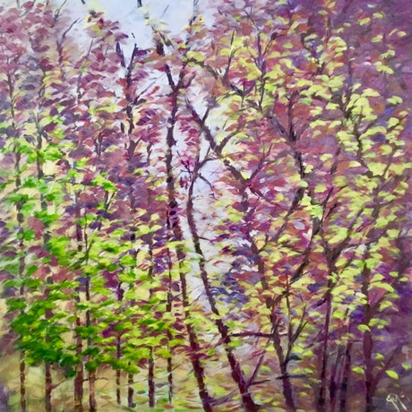 (CreativeWork) The remains of Autumn by Carolynne Mcintyre. Oil Paint. Shop online at Bluethumb.
