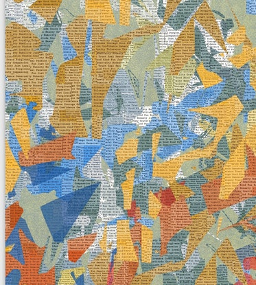 (CreativeWork) COLOURED NEWS - Mixed Media on canvas 127cm Square by George Hall. Mixed Media. Shop online at Bluethumb.