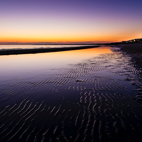 (CreativeWork) Aspendale beach at sunset Ed. 1 of 10 by Stuart Adams. Photograph. Shop online at Bluethumb.