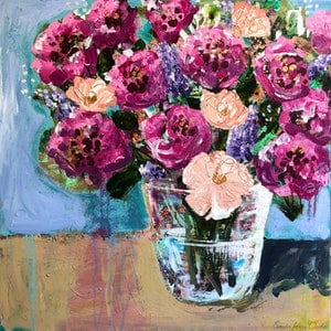(CreativeWork) Deep Pink Peonies by Sandra Oost. #<Filter:0x00005589e8f313b8>. Shop online at Bluethumb.