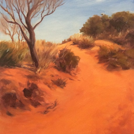 (CreativeWork) On the way to Uluru by Robin Hicks. Oil Paint. Shop online at Bluethumb.