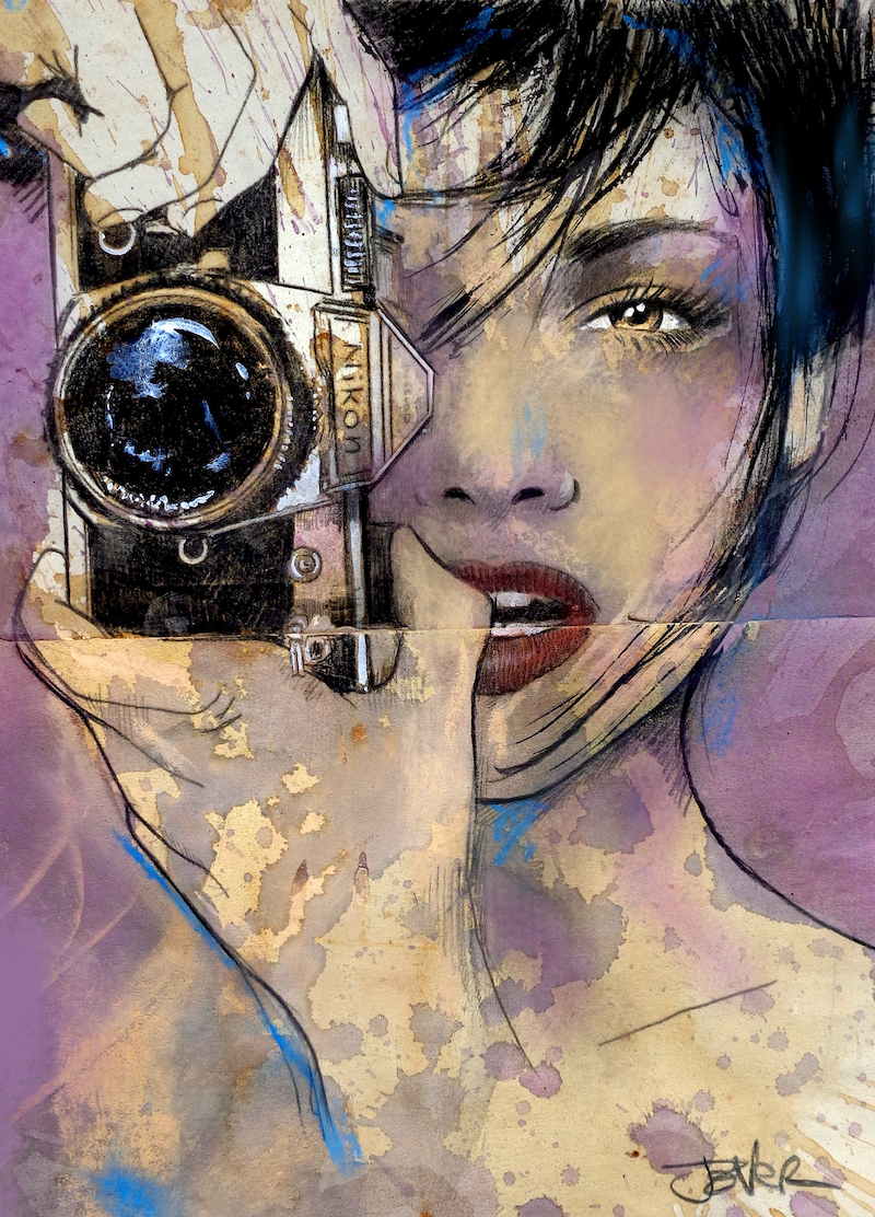 (CreativeWork) OPEN UP by loui jover. Mixed Media. Shop online at Bluethumb.