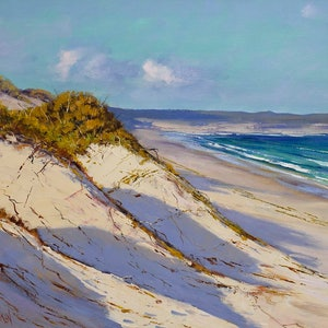 (CreativeWork) Sandy shore central coast nsw by Graham Gercken. Oil Paint. Shop online at Bluethumb.
