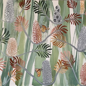 (CreativeWork) Butterfly Banksia by Kate Soady. #<Filter:0x00007f5998ec6e60>. Shop online at Bluethumb.