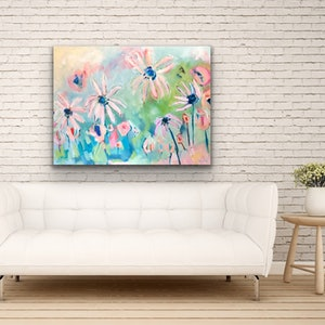 (CreativeWork) Sunkissed Daisies - Flowers by Jen Shewring. #<Filter:0x00007f1f809c7358>. Shop online at Bluethumb.
