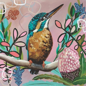 (CreativeWork) Abstract Kingfisher Ed. 2 of 50 by HEYLIE MORRIS. Print. Shop online at Bluethumb.