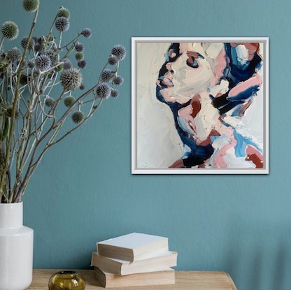 (CreativeWork) Billie by Olivia Miller. Oil Paint. Shop online at Bluethumb.