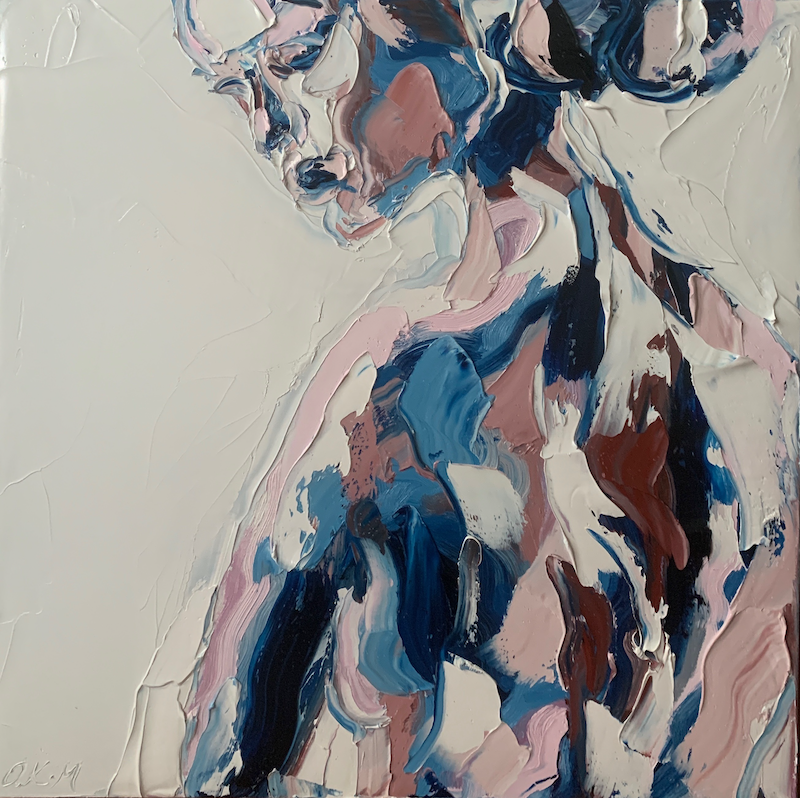 (CreativeWork) Ari by Olivia Miller. Oil Paint. Shop online at Bluethumb.