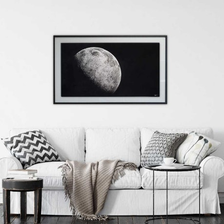 (CreativeWork) The Moon by Tegan Carney. Watercolour Paint. Shop online at Bluethumb.