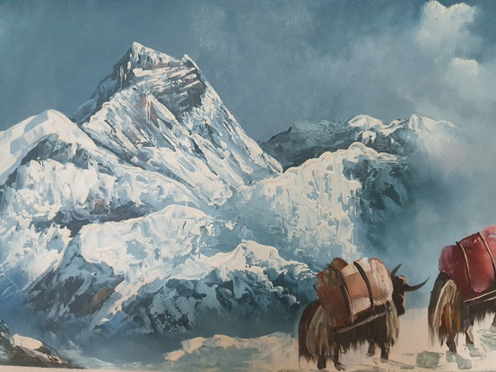 (CreativeWork) Everest Range Nepal by Arjun Gurung. #<Filter:0x000055623962bbc8>. Shop online at Bluethumb.