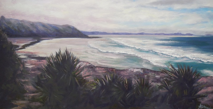 (CreativeWork) Angourie Afternoon by Anne Strambi. Oil Paint. Shop online at Bluethumb.