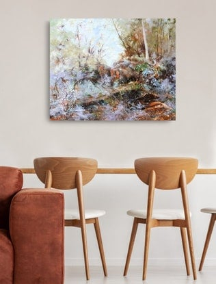 (CreativeWork) Shady 'roo 2 by Victoria Collins. Oil Paint. Shop online at Bluethumb.