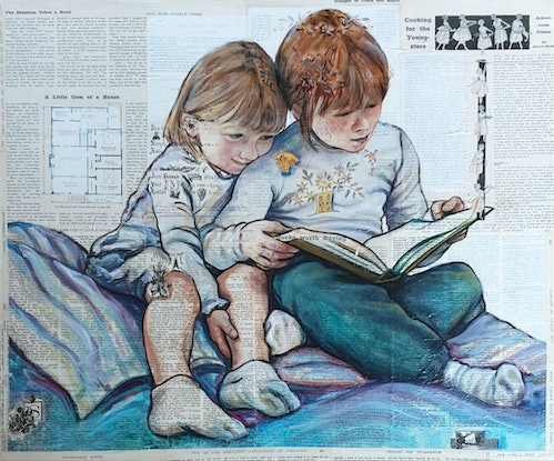 (CreativeWork) A Story Shared by Sherry McCourt. Oil Paint. Shop online at Bluethumb.
