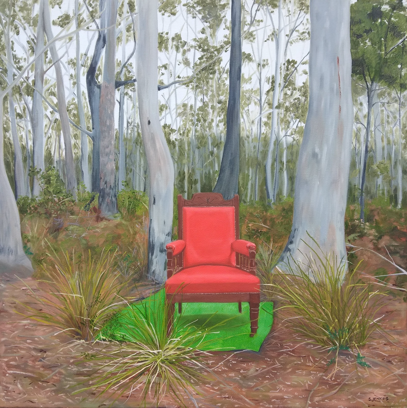 (CreativeWork) the perfect spot by Sandra Jenkins. Oil Paint. Shop online at Bluethumb.