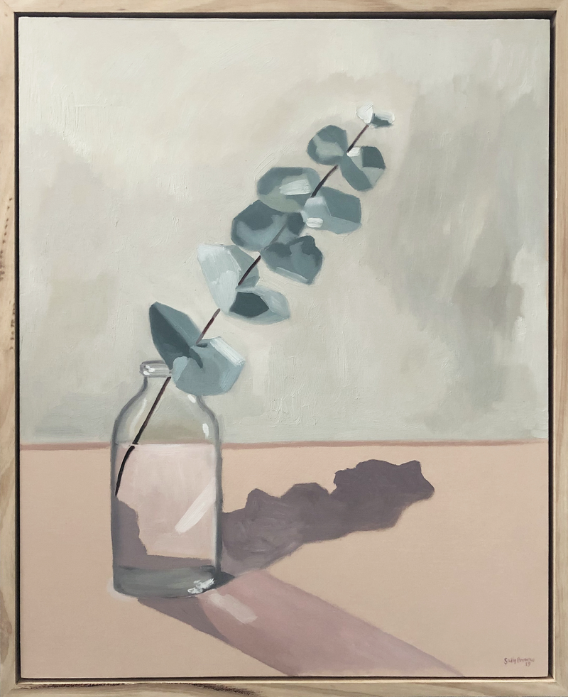 (CreativeWork) Silver Dollar and Sunlight by Sally Browne. Oil Paint. Shop online at Bluethumb.