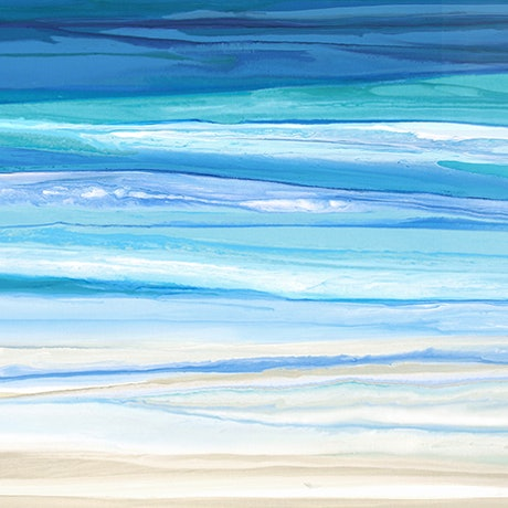 (CreativeWork) Darsea - very large blue green abstract seascape  by Stephanie Laine Pickering. Acrylic Paint. Shop online at Bluethumb.