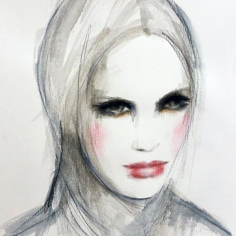 (CreativeWork) Zara by Fiona Maclean. Watercolour Paint. Shop online at Bluethumb.