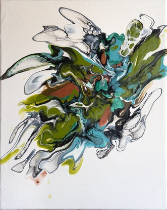 (CreativeWork) Exuberance by Brigitte Ackland. Acrylic Paint. Shop online at Bluethumb.