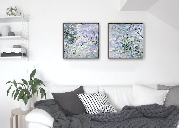 (CreativeWork) Spring I by Fangmin Wu. Oil Paint. Shop online at Bluethumb.