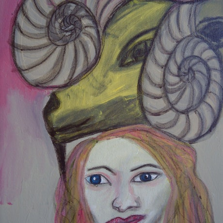 (CreativeWork) THE RAM. by Paula Reilly. Mixed Media. Shop online at Bluethumb.