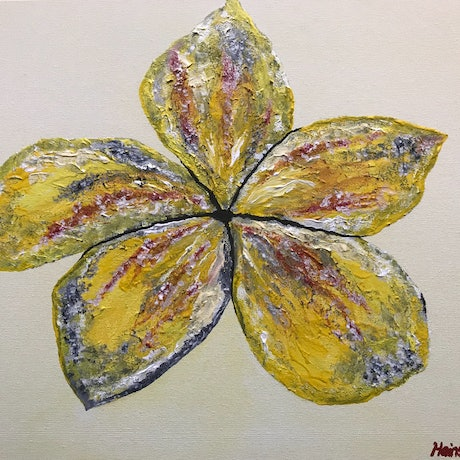 (CreativeWork) One Flower by Rachael Hains-Wesson. Acrylic Paint. Shop online at Bluethumb.