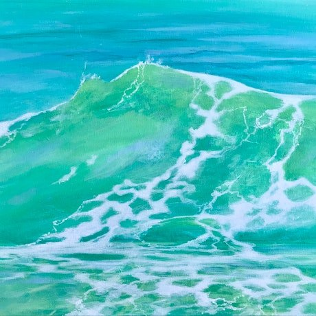 (CreativeWork) Lime Refreshment by Pip Phelps. Acrylic Paint. Shop online at Bluethumb.