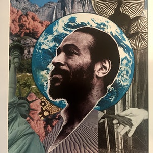 (CreativeWork) What's going on? (Marvin Gaye 1971) by Kelly Sullivan. Mixed Media. Shop online at Bluethumb.