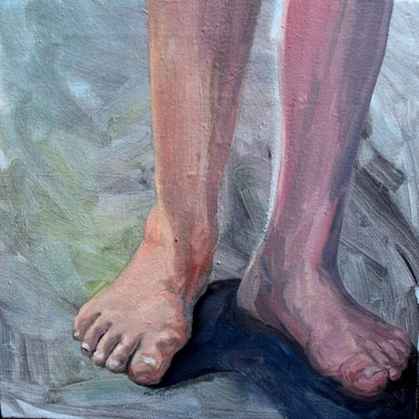 (CreativeWork) Walk a mile by Mike McMeekan. Oil Paint. Shop online at Bluethumb.