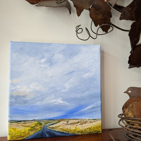 (CreativeWork) Take me there by Allison Taplin. Oil Paint. Shop online at Bluethumb.