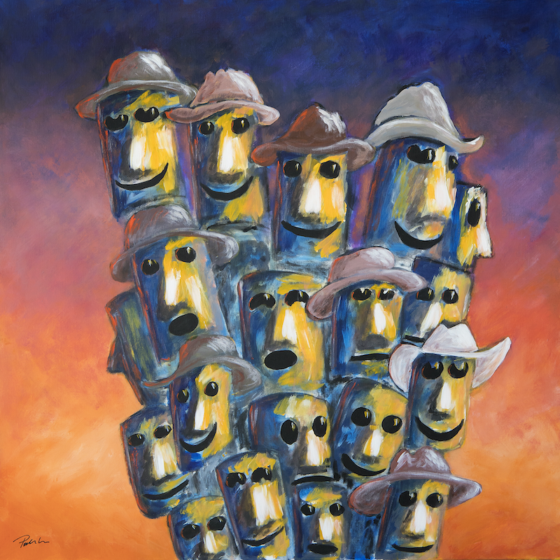 (CreativeWork) We Know Who We Are by Bruce Peebles. Acrylic Paint. Shop online at Bluethumb.