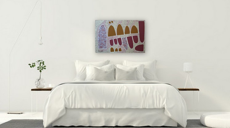 (CreativeWork) 'Reflections' by Karen Lee. Acrylic Paint. Shop online at Bluethumb.