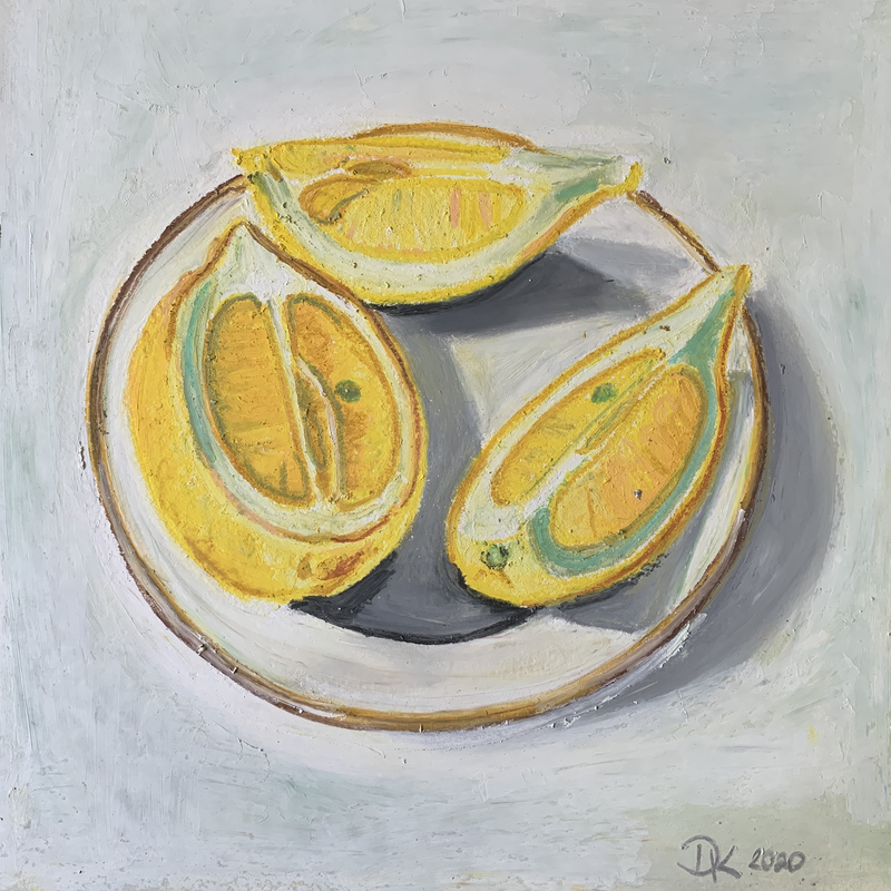 (CreativeWork) February Lemons A by Dominika Keller. Drawings. Shop online at Bluethumb.