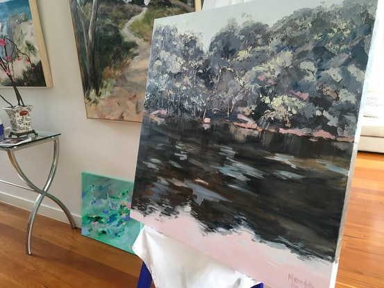 (CreativeWork) The Daintree by Meredith Howse. Oil Paint. Shop online at Bluethumb.