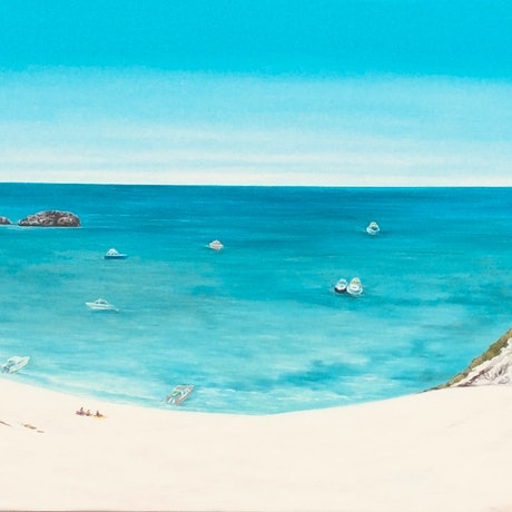 (CreativeWork) Longreach, Rottnest island  by Mark Sinclair. Acrylic Paint. Shop online at Bluethumb.
