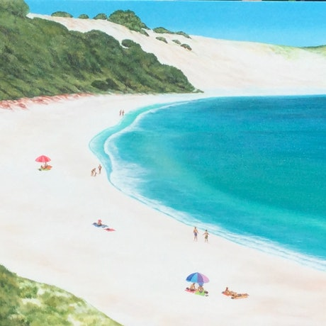 (CreativeWork) Injidup beach W.A. by Mark Sinclair. Acrylic Paint. Shop online at Bluethumb.