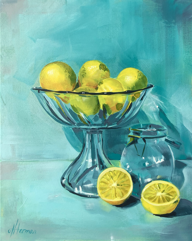 (CreativeWork) Aqua Glass Lemonades by Amy Herman. #<Filter:0x000055611d774858>. Shop online at Bluethumb.