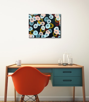 (CreativeWork) Orbicular Bloom VII  – Original Painting by Jacquelyn Stephens. Acrylic Paint. Shop online at Bluethumb.