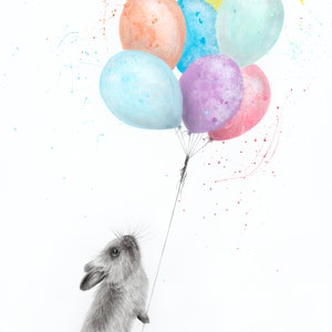 (CreativeWork) The Bunny and The Balloons by Ashvin Harrison. #<Filter:0x00007fe9a1920af8>. Shop online at Bluethumb.