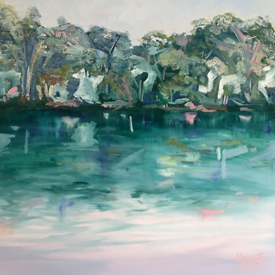 (CreativeWork) Daintree River by Meredith Howse. Oil Paint. Shop online at Bluethumb.