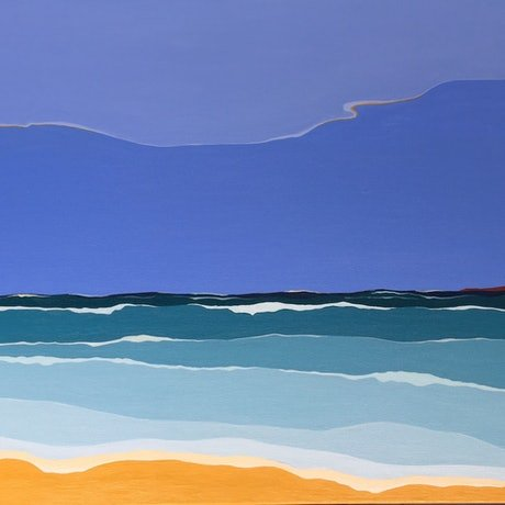 (CreativeWork) Sea and Sky by Marian Quigley. Acrylic Paint. Shop online at Bluethumb.