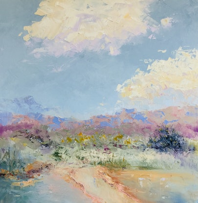 (CreativeWork) Leading Back to Happiness - LIGHTEN YOUR DAY! by Marie Green. Oil Paint. Shop online at Bluethumb.