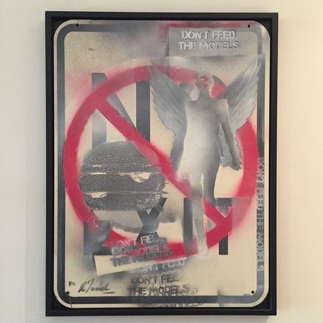 (CreativeWork) Don't Feed The Models by Adam Todd. Acrylic. Shop online at Bluethumb.