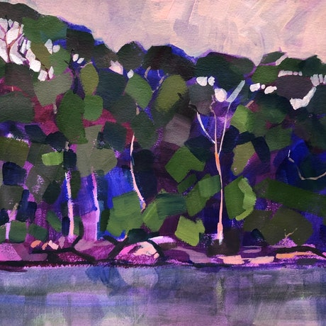 (CreativeWork) From The Water IV by Kate Gradwell. Acrylic Paint. Shop online at Bluethumb.