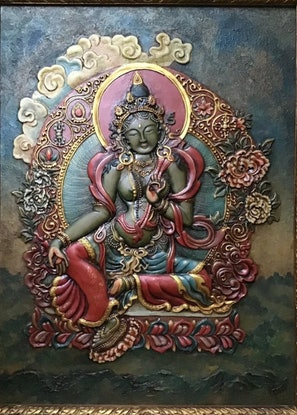 (CreativeWork) Goddess Green Tara by Arjun Gurung. Other Media. Shop online at Bluethumb.