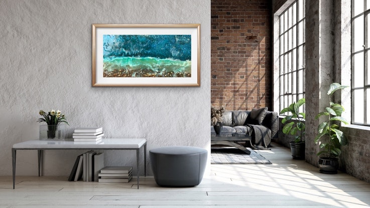 (CreativeWork) East Point by Kit McNeill. Resin. Shop online at Bluethumb.
