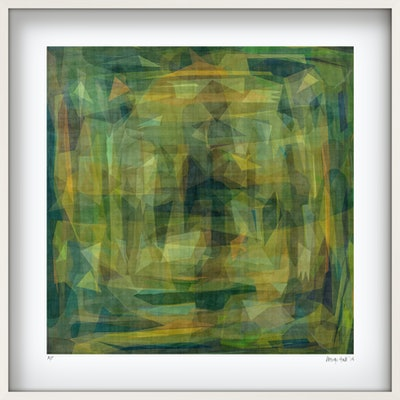 (CreativeWork) Green Harvest  - in white box frame  Ed. 16 of 25 by George Hall. Print. Shop online at Bluethumb.